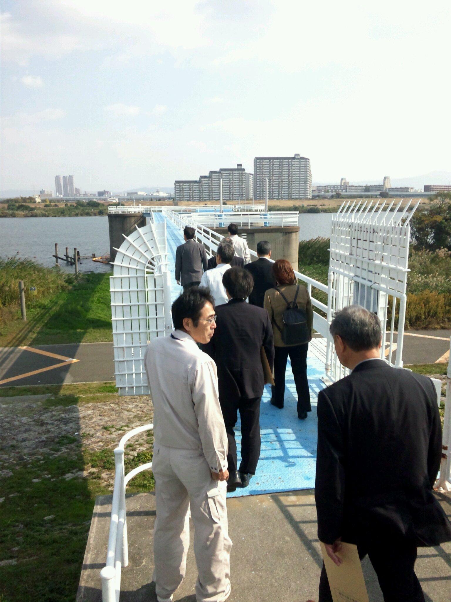 阪神水道企業団の視察   大阪・尼崎方面
